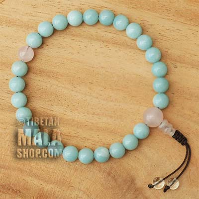 amazonite wrist mala beads