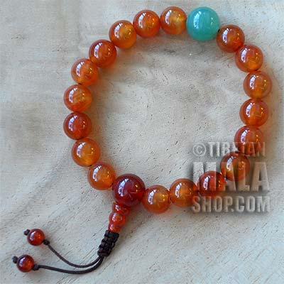 carnelian wrist mala beads