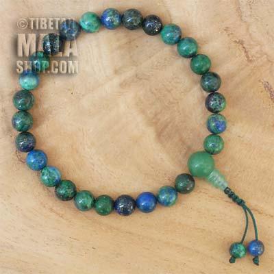 chrysocolla wrist mala beads
