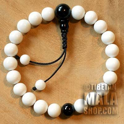conch shell wrist mala beads
