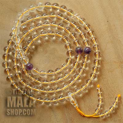 crystal mala beads