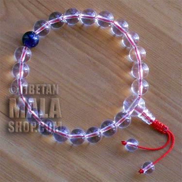 crystal wrist mala beads