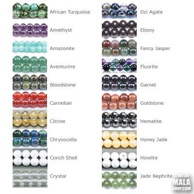 custom mala beads A-J