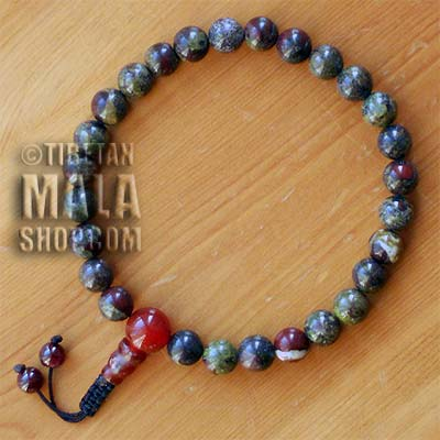 dragon blood jasper wrist mala beads