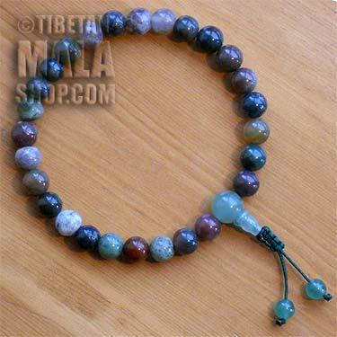 fancy jasper wrist mala beads