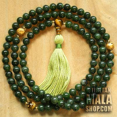 jade buddhist mala beads