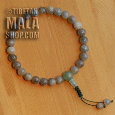 labradorite wrist mala beads