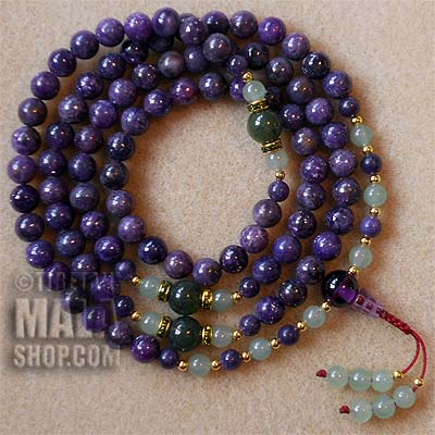 lepidolite prayer beads
