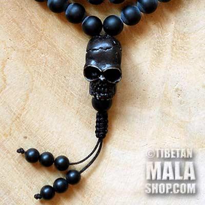 skull guru mala beads