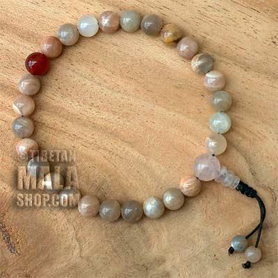 sunstone wrist mala beads