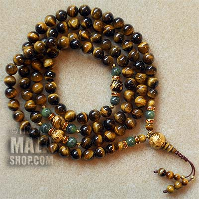 tigers eye prayer beads