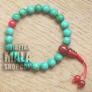 turquoise wrist mala beads