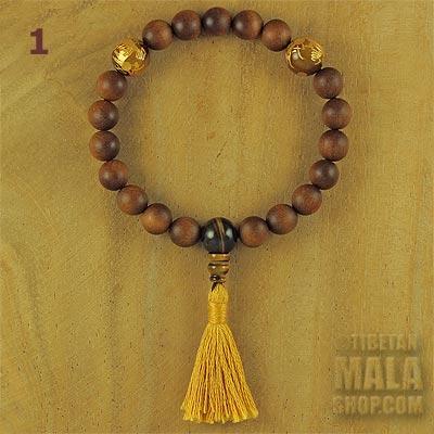 sandalwood tassel bracelet