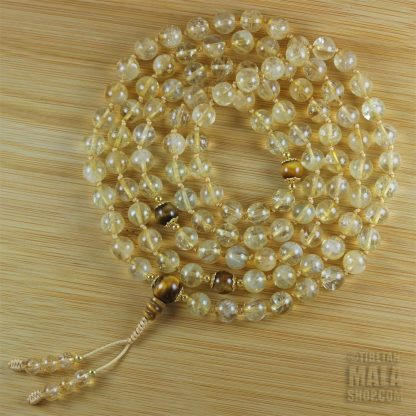 citrine knotted mala