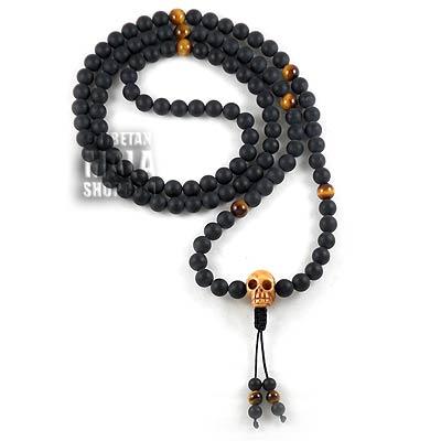 108 skull mala beads