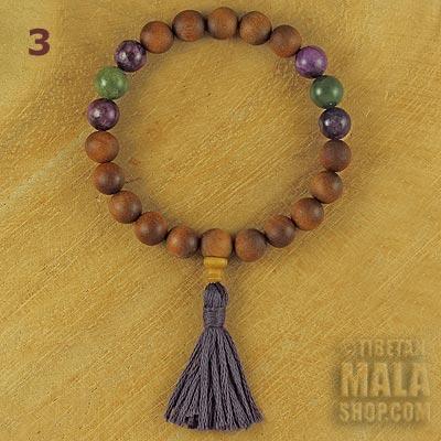 sandalwood tassel bracelet lepidolite