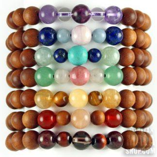 7 chakras stackable bracelets