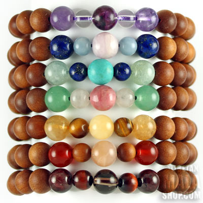 7 chakras stackable bracelets