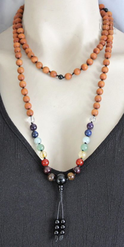 9 chakras mala necklace