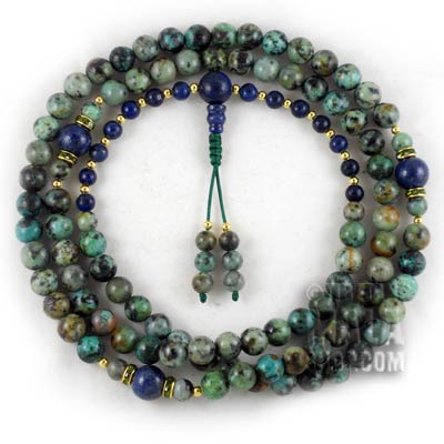 african turquoise buddhist prayer beads