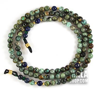 african turquoise glasses chain
