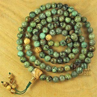 african turquoise mala