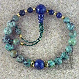 african turquoise mala bracelet