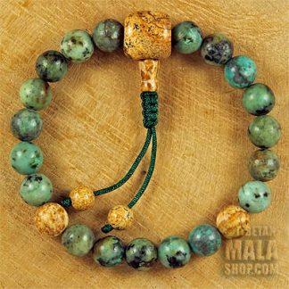african turquoise wrist mala