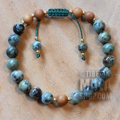 african turquoise yoga bracelet
