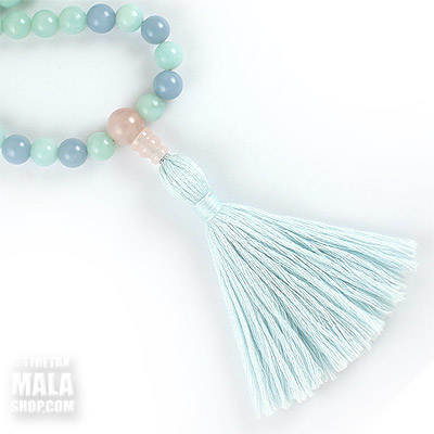 amazonite beaded tassel necklace