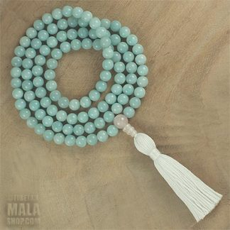 amazonite long tassel necklace