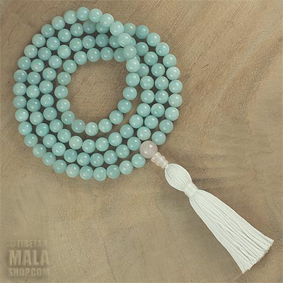 amazonite long tassel necklace