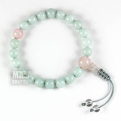 amazonite wrist mala bracelet