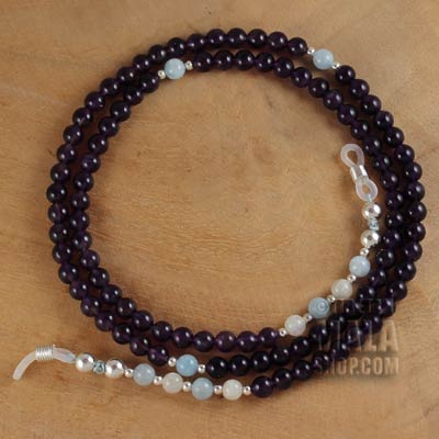 amethyst glasses chain