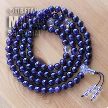 amethyst mala beads