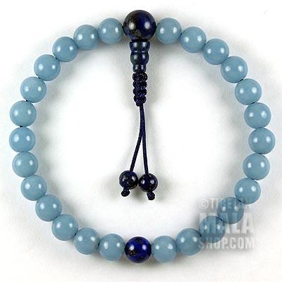 angelite mala bracelet
