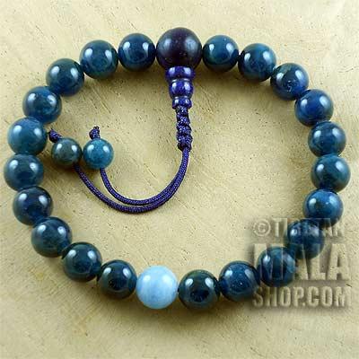apatite wrist mala beads