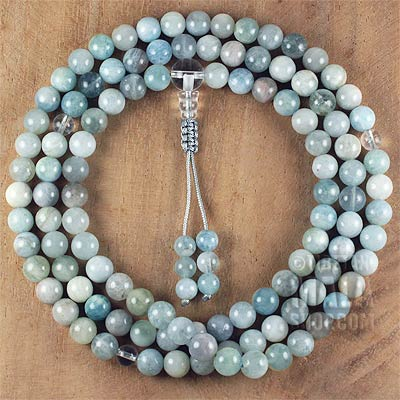 aquamarine mala beads