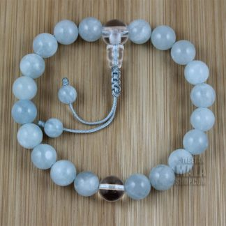 aquamarine mala bracelet