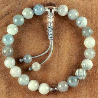 aquamarine wrist mala