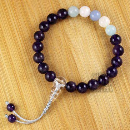 aquarius wrist mala beads