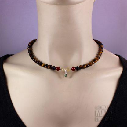 august birthstone choker necklace
