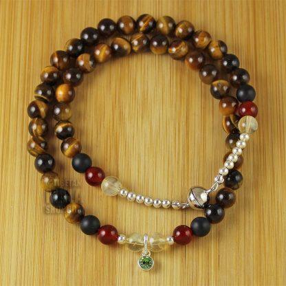 august birthstone wrap bracelet