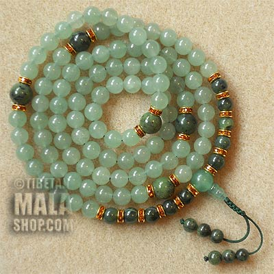 aventurine prayer mala beads