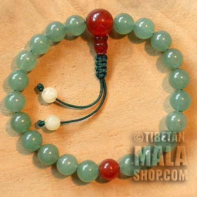 aventurine wrist mala beads