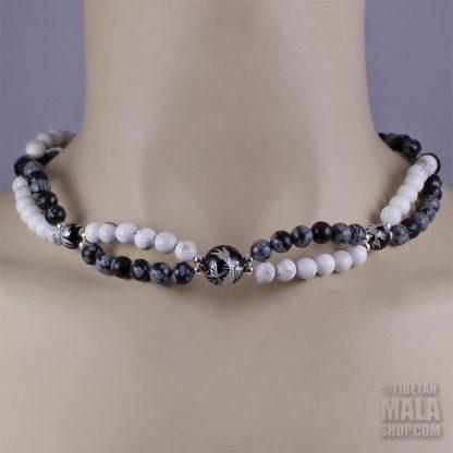 balance beaded choker necklace