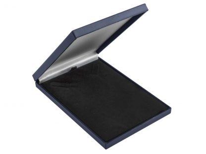 blue leatherette necklace box