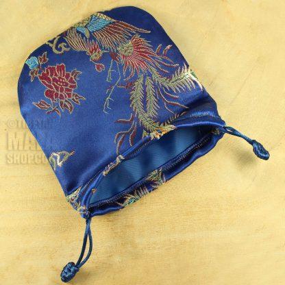 blue phoenix mala beads bag