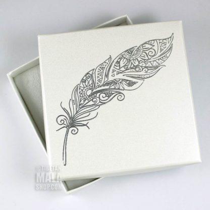 bracelet gift box feather
