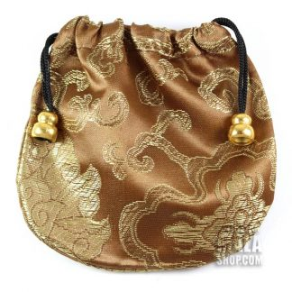 bronze lotus mala bag